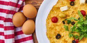 Gekookt ei, gebakken ei, eiwitten