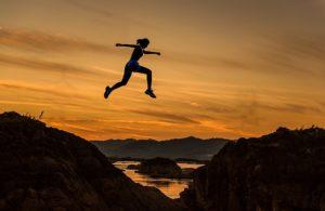 vrouw spring